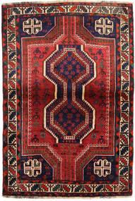 Shiraz Alfombra 111X162 Oriental Hecha A Mano Rojo Oscuro/Negro (Lana, Persia/Irán)