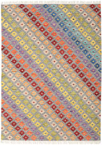 Spring Kilim Alfombra 210X290 Moderna Tejida A Mano Gris Claro/Beige Oscuro (Lana, India)