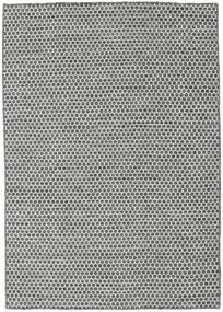 Kilim Honey Comb - Negro/Gris Alfombra 140X200 Moderna Tejida A Mano Gris Claro/Gris Oscuro (Lana, India)