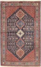 Yalameh Alfombra 157X255 Oriental Hecha A Mano Gris Oscuro/Rojo Oscuro (Lana, Persia/Irán)