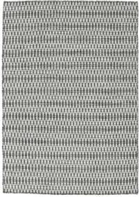 Kilim Long Stitch - Negro/Gris Alfombra 140X200 Moderna Tejida A Mano Gris Claro/Gris Oscuro (Lana, India)
