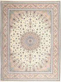 Isfahan Urdimbre De Seda Alfombra 315X420 Oriental Hecha A Mano Gris Claro/Beige Grande (Lana/Seda, Persia/Irán)