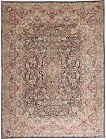 Kerman Alfombra 290X387 Oriental Hecha A Mano Gris Claro/Marrón Oscuro Grande (Lana, Persia/Irán)
