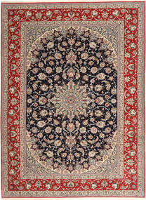 Isfahan Urdimbre De Seda Alfombra 265X363 Oriental Hecha A Mano Gris Claro/Rojo Oscuro Grande (Lana/Seda, Persia/Irán)