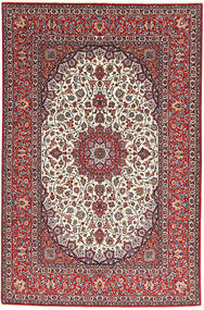 Isfahan Urdimbre De Seda Alfombra 155X240 Oriental Hecha A Mano Rojo Oscuro/Gris Claro (Lana/Seda, Persia/Irán)