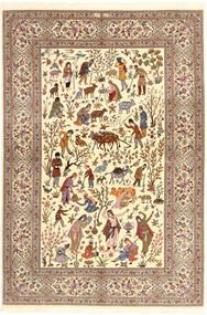Ilam Sherkat Farsh De Seda Alfombra 150X220 Oriental Hecha A Mano Beige/Marrón/Marrón Claro (Lana/Seda, Persia/Irán)