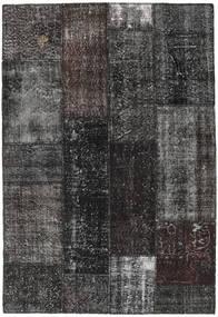 Patchwork Alfombra 141X206 Moderna Hecha A Mano Negro/Gris Oscuro (Lana, Turquía)