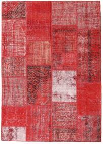 Patchwork Alfombra 162X230 Moderna Hecha A Mano Óxido/Roja/Rojo Oscuro/Roja (Lana, Turquía)