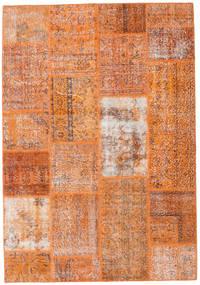 Patchwork Alfombra 161X232 Moderna Hecha A Mano Marrón Claro/Naranja (Lana, Turquía)