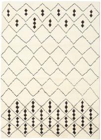 Berber Indo - Off-Blanco/Negro Alfombra 210X290 Moderna Hecha A Mano Beige/Blanco/Crema (Lana, India)