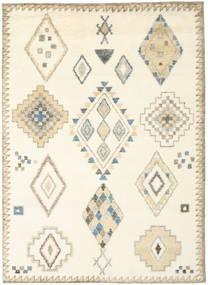 Berber Indo - Blanco Crudo/Beige Alfombra 210X290 Moderna Hecha A Mano Blanco/Crema/Beige (Lana, India)