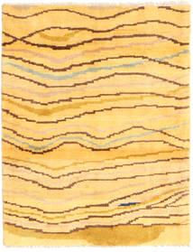 Gabbeh Persia Alfombra 81X109 Moderna Hecha A Mano Amarillo/Marrón Claro (Lana, Persia/Irán)