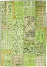 Patchwork Alfombra 161X233 Moderna Hecha A Mano Verde Claro (Lana, Turquía)