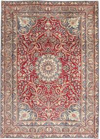 Kerman Patina Alfombra 248X344 Oriental Hecha A Mano Beige/Gris Claro (Lana, Persia/Irán)