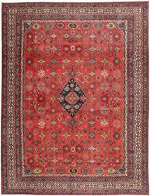 Hamadan Shahrbaf Patina Alfombra 313X413 Oriental Hecha A Mano Rojo Oscuro/Óxido/Roja Grande (Lana, Persia/Irán)