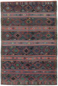 Kilim Turquía Alfombra 168X250 Oriental Tejida A Mano Gris Oscuro/Rojo Oscuro (Lana, Turquía)