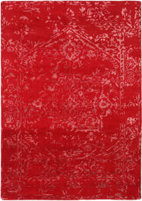Orient Express - Rojo Alfombra 160X230 Moderna Hecha A Mano Roja (Lana/Seda De Bambú, India)