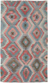 Kilim Turquía Alfombra 165X288 Oriental Tejida A Mano Gris Oscuro/Gris Claro (Lana, Turquía)
