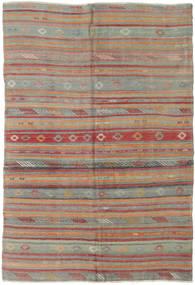 Kilim Turquía Alfombra 160X233 Oriental Tejida A Mano Gris Oscuro/Rojo Oscuro (Lana, Turquía)