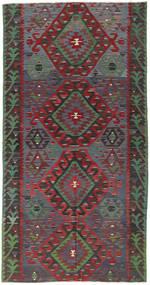 Kilim Turquía Alfombra 157X300 Oriental Tejida A Mano Gris Oscuro/Rojo Oscuro (Lana, Turquía)