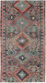 Kilim Turquía Alfombra 163X292 Oriental Tejida A Mano Gris Oscuro/Marrón Claro (Lana, Turquía)