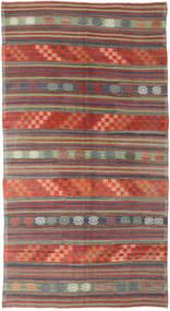 Kilim Turquía Alfombra 174X318 Oriental Tejida A Mano Rojo Oscuro/Gris Oscuro (Lana, Turquía)