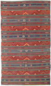 Kilim Turquía Alfombra 170X296 Oriental Tejida A Mano Rojo Oscuro/Verde Oscuro (Lana, Turquía)
