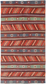 Kilim Turquía Alfombra 170X314 Oriental Tejida A Mano Rojo Oscuro/Negro (Lana, Turquía)