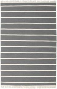 Dorri Stripe - Gris Alfombra 160X230 Moderna Tejida A Mano Marrón Oscuro/Gris Oscuro (Lana, India)