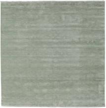 Handloom Fringes - Soft Teal Alfombra 250X250 Moderna Cuadrada Verde Claro Grande (Lana, India)