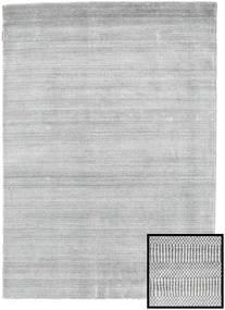 Bambú Grass - Gris Alfombra 140X200 Moderna Gris Claro/Blanco/Crema (Lana/Seda De Bambú, Turquía)