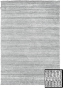 Bambú Grass - Gris Alfombra 160X230 Moderna Gris Claro (Lana/Seda De Bambú, Turquía)