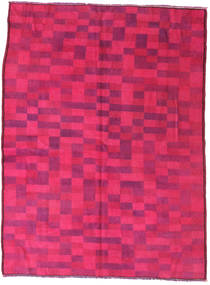 Colored Vintage Alfombra 144X195 Moderna Hecha A Mano Rosa/Roja (Lana, Turquía)