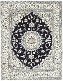 Nain Alfombra 193X250 Oriental Hecha A Mano Gris Claro/Beige (Lana, Persia/Irán)