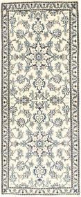 Nain Alfombra 80X204 Oriental Hecha A Mano Beige/Gris Claro (Lana, Persia/Irán)
