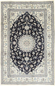 Nain Alfombra 201X314 Oriental Hecha A Mano Gris Claro/Gris Oscuro (Lana, Persia/Irán)