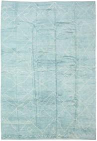 Handknotted Berber Shaggy Alfombra 296X429 Moderna Hecha A Mano Azul Turquesa/Azul Claro/Verde Pastel Grande (Lana, Turquía)
