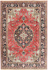 Tabriz Alfombra 200X287 Oriental Hecha A Mano Rojo Oscuro/Marrón (Lana, Persia/Irán)