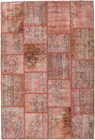 Patchwork Alfombra 159X234 Moderna Hecha A Mano Rojo Oscuro/Rosa Claro (Lana, Turquía)