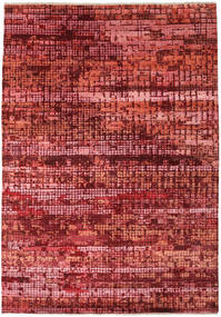 Damask Indo Alfombra 173X245 Moderna Hecha A Mano Rojo Oscuro/Óxido/Roja ( India)