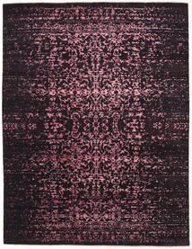 Damask Indo Alfombra 237X308 Moderna Hecha A Mano Marrón Oscuro/Púrpura Oscuro ( India)