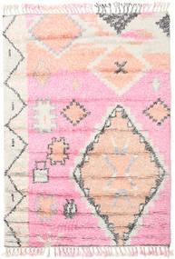 Odda - Rosa Alfombra 160X230 Moderna Hecha A Mano Rosa Claro/Blanco/Crema (Lana, India)