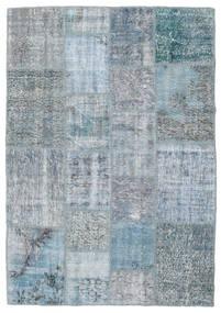 Patchwork Alfombra 138X201 Moderna Hecha A Mano Azul Claro/Gris Claro (Lana, Turquía)