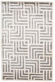 Maze Alfombra 200X300 Moderna Hecha A Mano Gris Claro/Blanco/Crema ( India)
