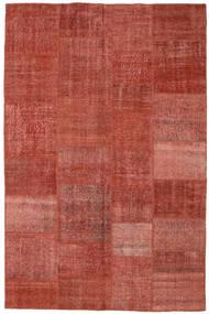 Patchwork Alfombra 196X304 Moderna Hecha A Mano Rojo Oscuro/Óxido/Roja (Lana, Turquía)
