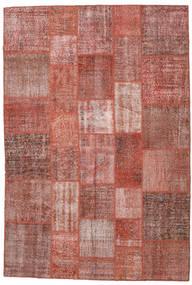 Patchwork Alfombra 204X301 Moderna Hecha A Mano Rojo Oscuro/Rosa Claro (Lana, Turquía)