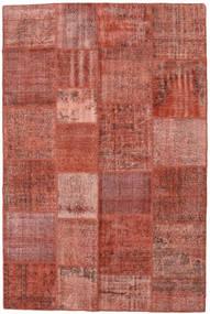 Patchwork Alfombra 198X300 Moderna Hecha A Mano Rojo Oscuro/Marrón Claro (Lana, Turquía)