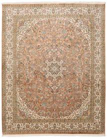 Cachemira Pura De Seda Alfombra 204X257 Oriental Hecha A Mano Marrón/Marrón Claro (Seda, India)