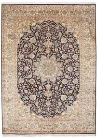 Cachemira Pura De Seda Alfombra 174X239 Oriental Hecha A Mano Gris Claro/Marrón Claro (Seda, India)