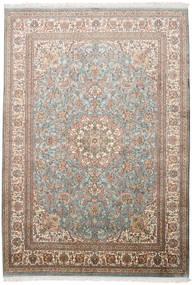 Cachemira Pura De Seda Alfombra 174X250 Oriental Hecha A Mano Gris Claro/Marrón (Seda, India)
